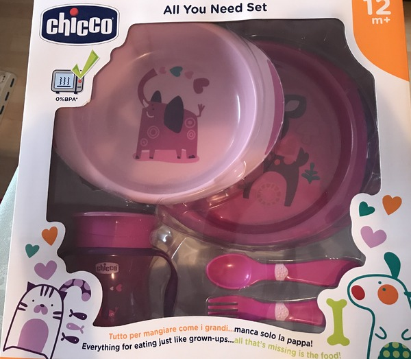 Chicco - Set Pappa Rosa 12m+